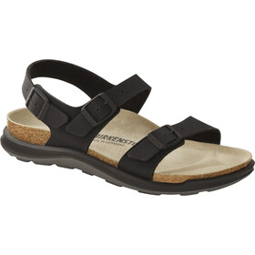 Birkenstock Sonora Crosstown Sandals Birko-Flor Birkibuc Narrow Women, black